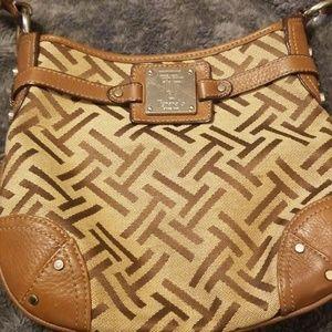 Brown/Cream Tignanello crossbody handbag